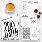 28 Day Prayer Journal & 4 Week Planner | Pray. Listen. Write.