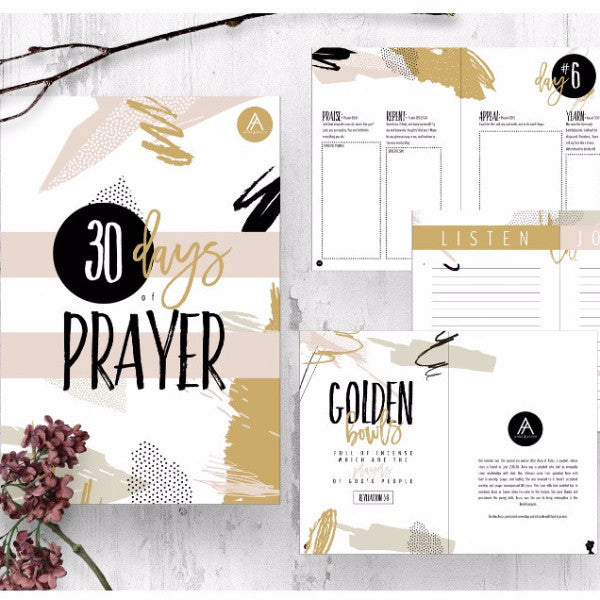 30 Days of Prayer Journal | Pray. Listen. Write.