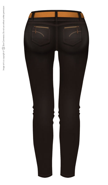 LT.ROSE 2003 Black Classic Butt Lifting Jeans | Jeans Levanta Cola