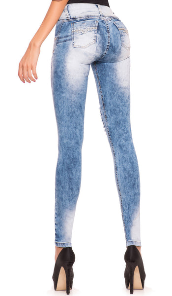 Laty Rose 2007 Denim Butt Lifter Ripped Jeans Levanta Glúteos con Destroyer