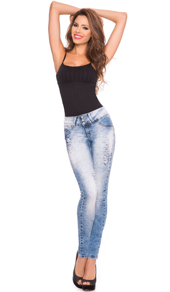 LT.ROSE 2007 Butt Lifting Ripped Jeans | Jeans Rotos Levanta Cola