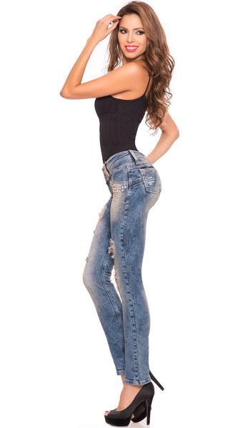 LT.ROSE 2014 Butt Lifting Ripped Jeans | Jeans Levanta Cola Colombianos