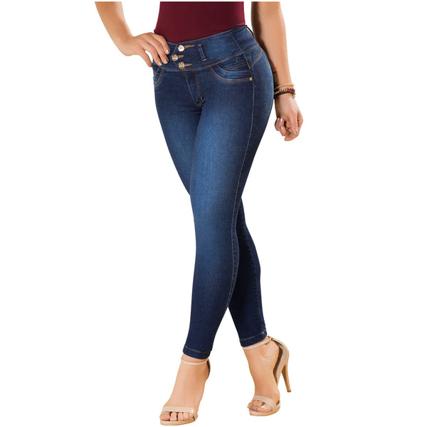 LT.ROSE 2018 Jeans Colombianos Levanta Cola Azul Oscuro
