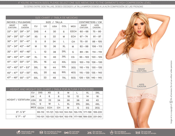 LT.ROSE 1020 Latex Colombian Waist Cincher | Faja Cinturilla de Latex