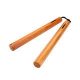 "Wooden Chucks Nunchaku Nylon Corded 12"" Inches Brown Octagonal"