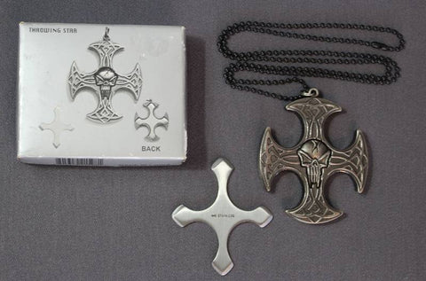 Bonescythe Necklace Shuriken Throwing Star