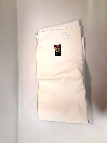 ProForce Karate Pants 14oz Traditional Drawstring Waist White Size 5