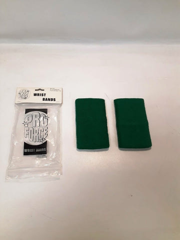 "PROFORCE CLOTH WRIST BANDS Green 5"" X 3"""