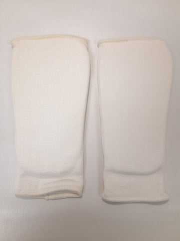 "ProForce Cloth Sparring Shin Guards White Size Child Large (5.5"" wide - 11"" long)"