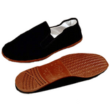 Kung Fu Shoes Brown Plastic Soles