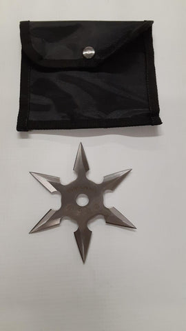 6 Point Kohga Ninja Star Silver 3.5""