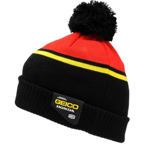 100% Geico Honda Rev Men's Beanie Hats-2501-2653