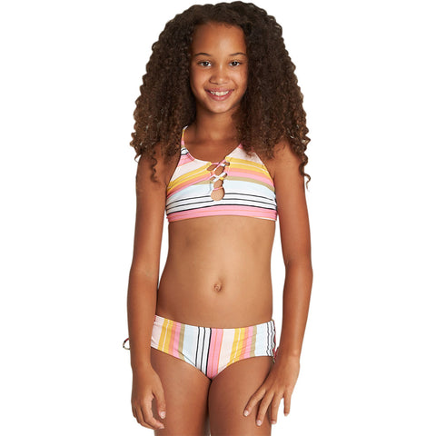 Billabong Sunny Song High Neck Youth Girls Two Piece Swimwear-Y208UBSU