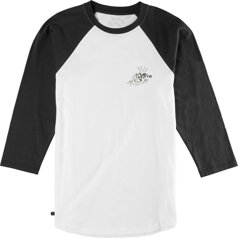 Etnies Broken Bones Men's 3/4-Sleeve Shirts - Black/White