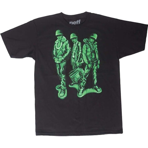 Neff Run Green Men's Short-Sleeve Shirts - Black