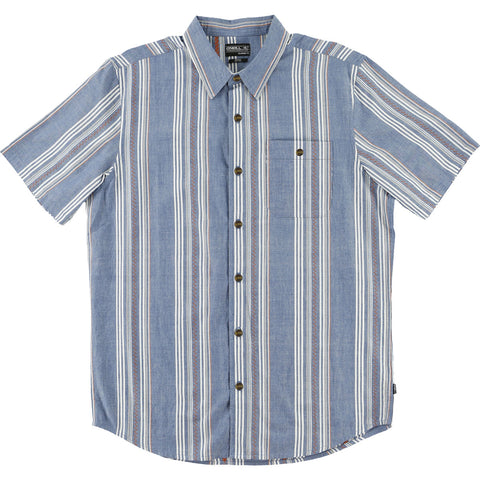 O'Neill Gilmour Men's Button Up Short-Sleeve Shirts - Blue
