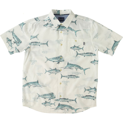 O'Neill Jack O'Neill Fish N Chips Men's Button Up Short-Sleeve Shirts-SP7704217