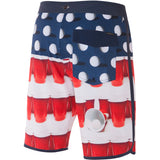 O'Neill Beer Pong Scallop Men's Boardshort Shorts - Red