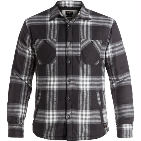 Quiksilver The Game Play Men's Button Up Long-Sleeve Shirts - Tarmac
