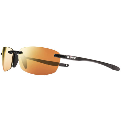 Revo Descend E Men's Lifestyle Polarized Sunglasses - Black / Solar Orange