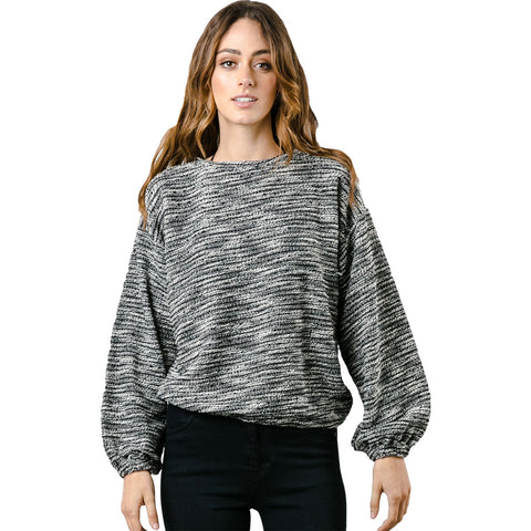 Rusty Women's Dozens Crew Neck Top Long-Sleeve Shirts-MWL0211-BLK