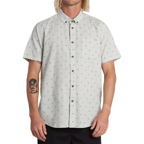 Billabong All Day Jacquard Men's Button Up Short-Sleeve Shirts (BRAND NEW)