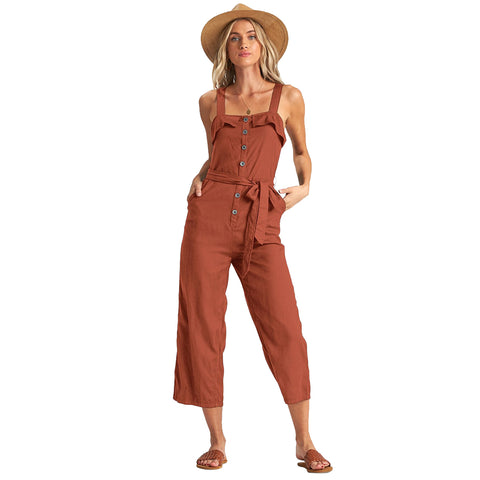 Billabong Sandy Toes Jumpsuit Women's Rompers - Henna