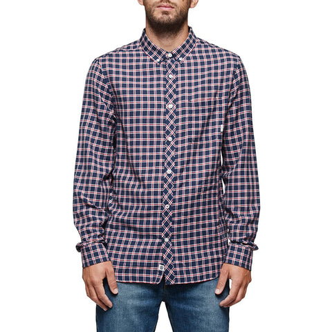 Element Goodwin Men's Button Up Long-Sleeve Shirts - Midnight Blue