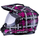 GMAX GM-11 Pink Ribbon Riders Adult Off-Road Helmets (New - Without Tags)-72-7049