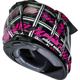 GMAX GM-11S Dual-Sport Pink Ribbon Riders Adult Snow Helmets-72-7149