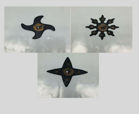 Soft Foam Rubber Throwing Ninja Stars Combo Pack