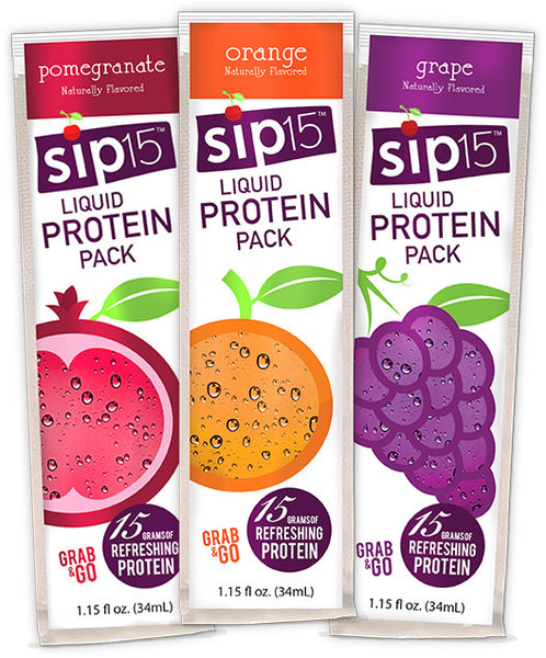 Sip15™ Liquid Protein Drink - Grab & Go Variety Bag