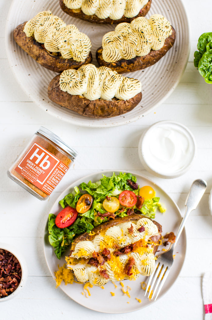 Honey Habanero Sloppy Joe Baked Potato