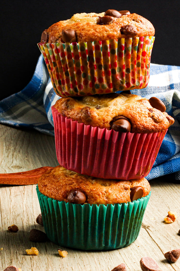 Apple Cinnamon Banana Muffins