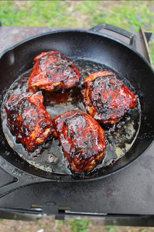 Derek Wolf's Cherry Chipotle Chicken Thighs