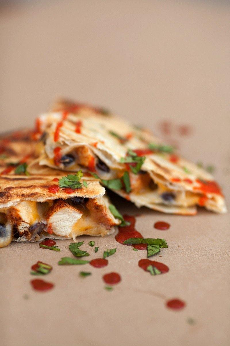 Chicken & Black Bean Quesadillas