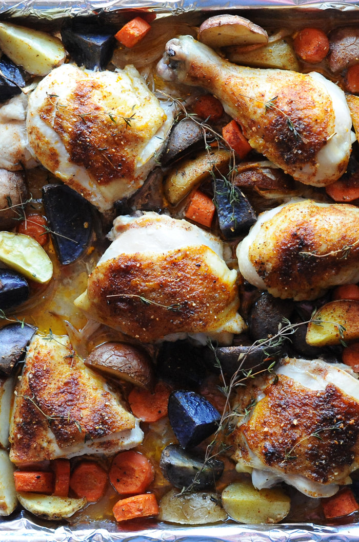 One-pan Chicken & Root Vegetables