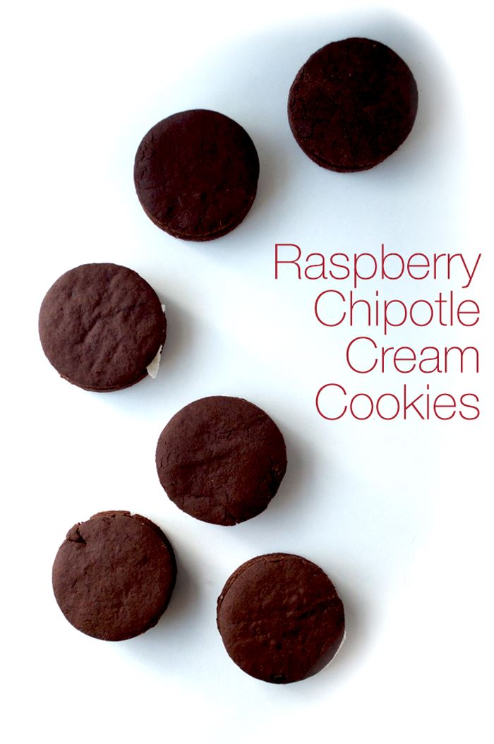 Raspberry Chipotle Cream Cookies