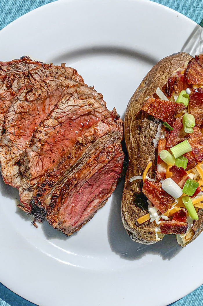 Red Tuxedo Tri-Tip with Caveman Potato