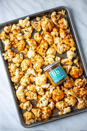 Roasted Black and Bleu Cauliflower