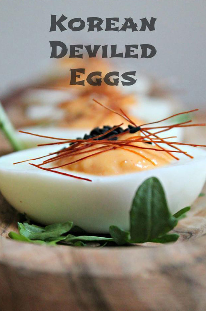 Korean Deviled Eggs