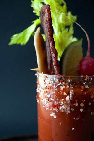 Spicy Bloody Mary with Candied Bacon