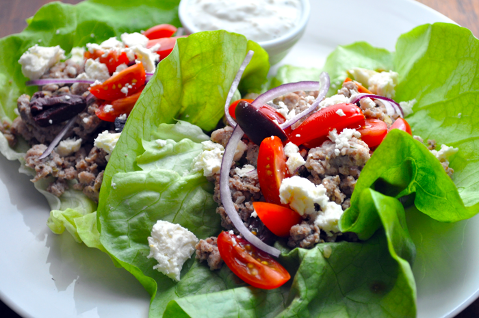 Greek Freak Turkey Lettuce Wraps Recipe | Spiceology