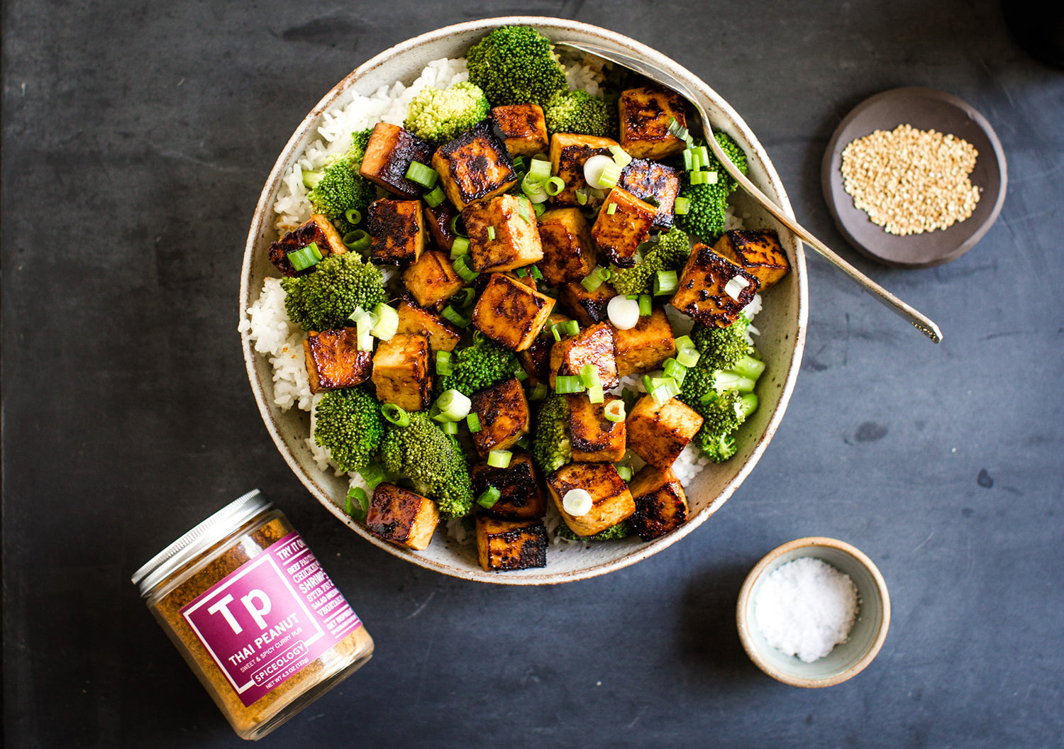 Asian Tofu Recipe | Thai Peanut Tofu Bowl | Blog