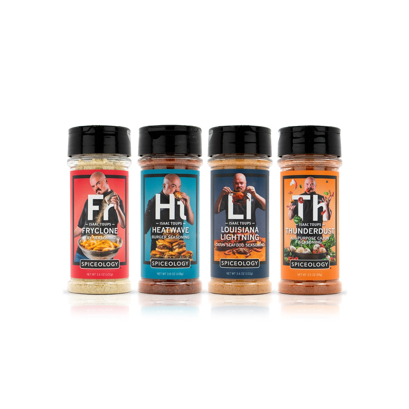 Isaac Toups 4 Pack Seasonings | PET Small Jars