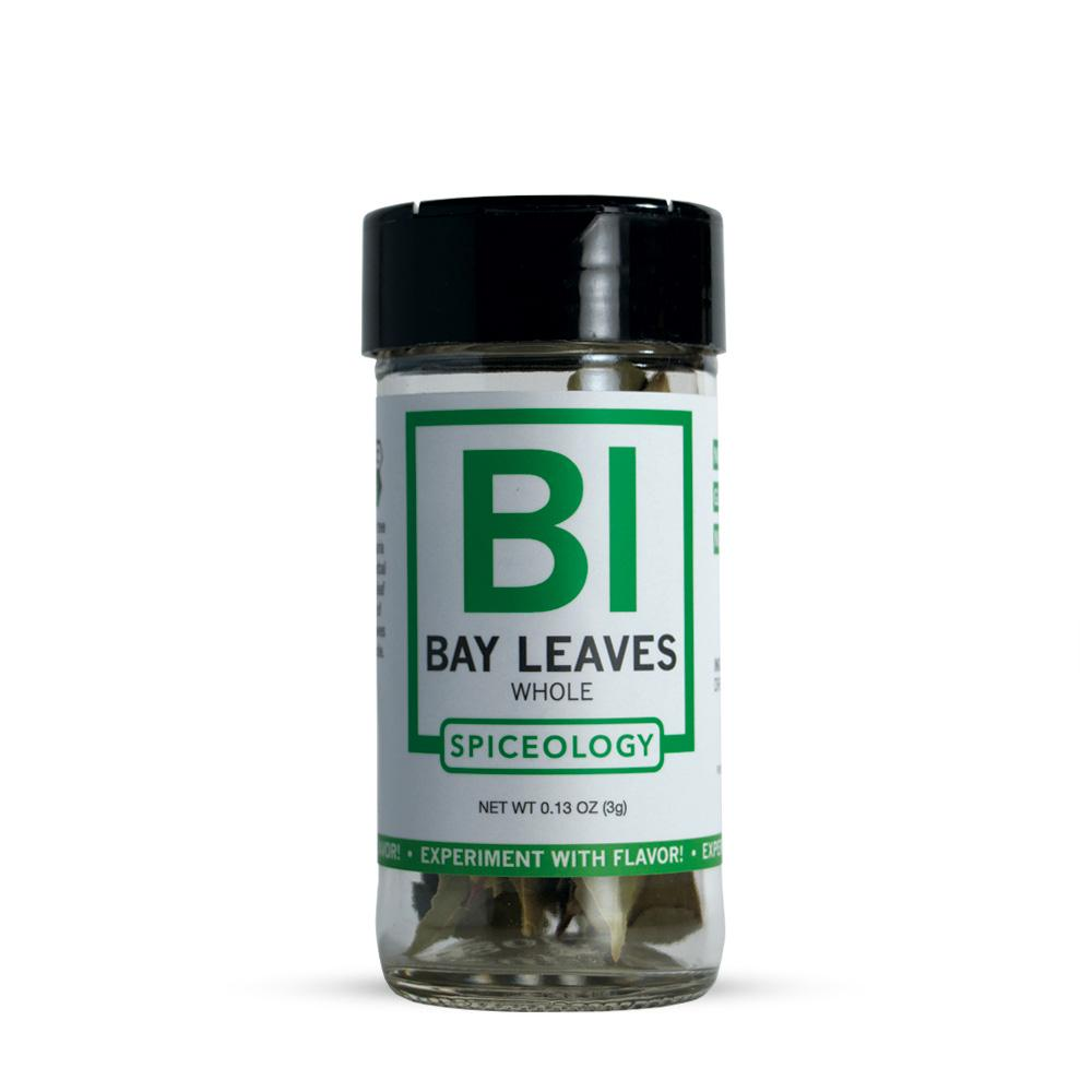 Bay Leaves | Glass Jar A-Z Spiceology 0.13 OZ