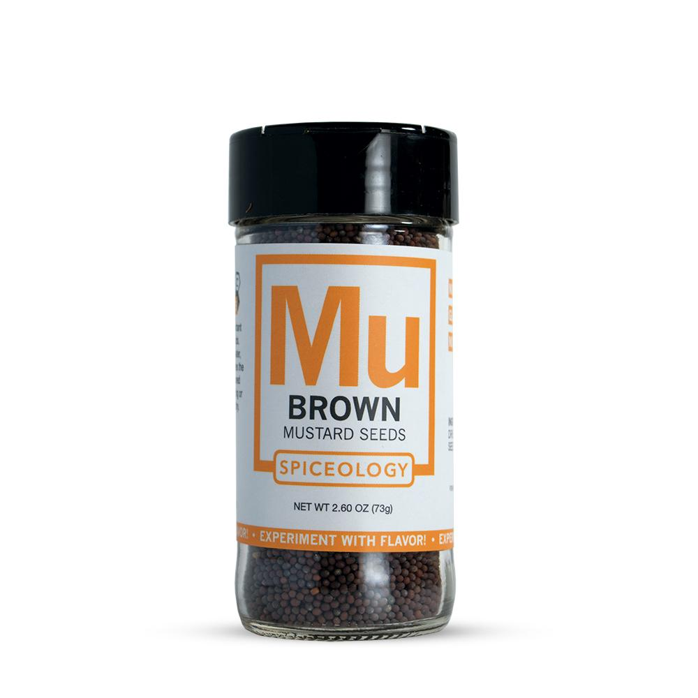 Mustard Seed, Brown | Glass Jar A-Z Spiceology 2.60 OZ