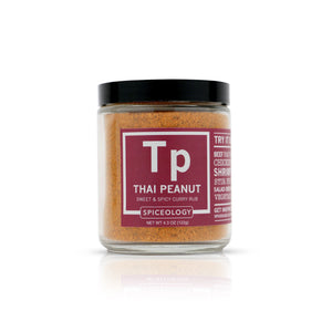 Thai Peanut™ Sweet & Spicy Curry Rub | Glass Jar GLASS JARS Spiceology 4.3 OZ
