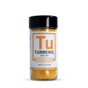 Turmeric Root Powder | Glass Jar A-Z Spiceology 1.93 OZ