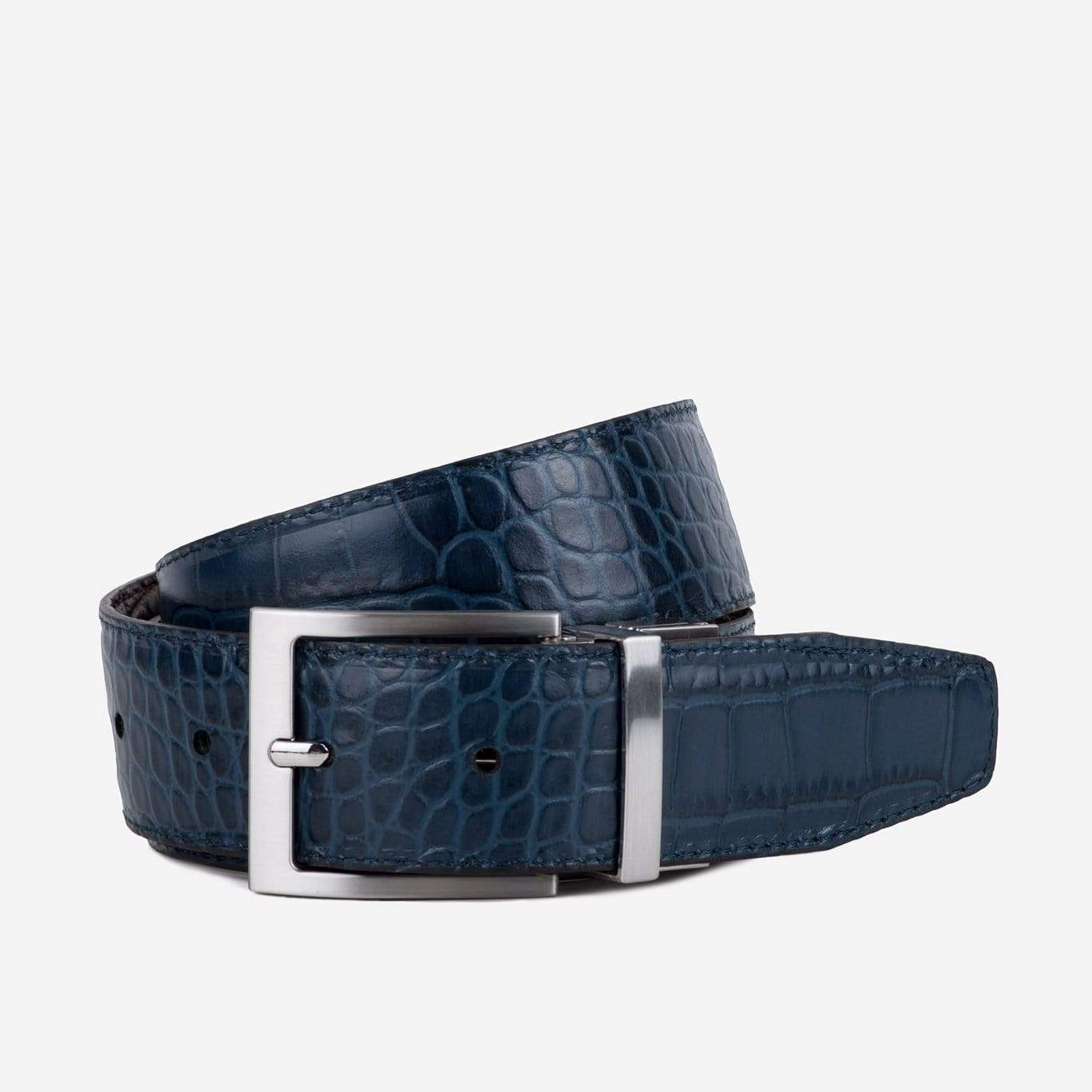 Goodwin Smith Accessories MARIO REVERSIBLE BROWN AND NAVY
